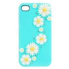 Gerbera Protective Plastic Back Case for Iphone 4 / 4S - Light Blue