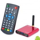 Mini X Android 2.3 HD 1080P Netzwerk-Media Player w / Wi-Fi / HDMI / USB / AV / TF - Red