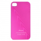 Protective Aluminum Alloy Back Case for Iphone 4 / 4S - Deep Pink