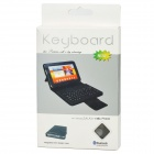Bluetooth V3.0 Wireless Keyboard w/ PU Leather Case for Samsung 6200 - Black