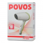 POVOS PH1800 1000W 2-Mode Hair Dryer - Green (AC 220V / 2-Flat-Pin Plug)