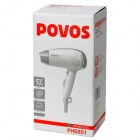POVOS PH6801 1400W 3-Mode Hair Dryer - White (AC 220V / 2-Flat-Pin Plug)