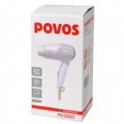POVOS PH2803 1200W 3-Mode Hair Dryer - Purple (AC 220V / 2-Flat-Pin Plug)