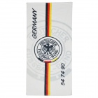 Germany National Football Soccer Team Logo Cotton Bath Towel - Black + White + Yellow + Red