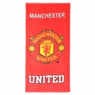 Manchester United Football Soccer Club Logo Cotton Bath Towel - Red + Yellow