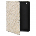 Decorative Pattern Protective PU Leather Case for iPad 2 - Golden + White