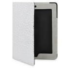 Decorative Pattern Protective PU Leather Case for iPad 2 - Silver + White