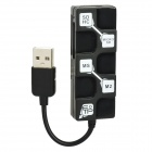USB 2.0 SD / TF / M2 / MS Card Reader - schwarz (max. 32GB)