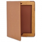Floral Printing Pattern Protective PU Leather Case for iPad 2 - Golden