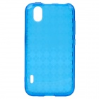 Protective TPU Back Cover Case for LG LS855 - Transparent Blue