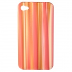Stylish Stripe Pattern Protective Case for Iphone 4 / 4S - Multi-Color
