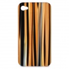 Protective Epoxy Resin Back Cover Case for iPhone 4/4S - Light Orange