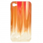 Protective Agate Resin Style Back Case for Iphone 4 / 4S - Beige (Random Pattern)