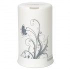Stylish Dandelion Pattern Aroma Diffuser Humidifier w/ Colorful Lights - White (100ml)