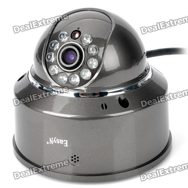 EasyN 1.0MP Security Surveillance IP Network Camera w/ 10-LED IR Night Vision - Grey (2GB)