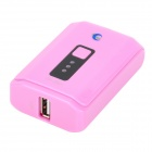 Mini External Battery Pack 4000mAh w / Flashlight / Adapter für Handy + More - Pink