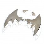 Cool Alloy Bat Car Decorative Sticker - Silver