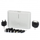 External 12800mAh Emergency Power Charger w/ Dual USB / 8 Adapters - White