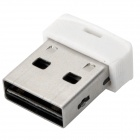 PNY Mini USB 2.0 Micro SD / TF Card Reader Cell Phone Strap - White (Max. 64GB)