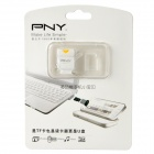 PNY Mini USB 2.0 Micro SD / TF Card Reader Cell Phone Strap - White (Max. 32GB)