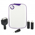 Portable 5200mAh External Mobile Power Battery Charger w/ Adapters - White
