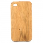 Protective Detachable Wooden Case Cover for Iphone 4 / 4S - Wood Color