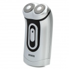 POVOS PQ2502 Rechargeable Dual-Blade Rotary Shaver Razor - Silver