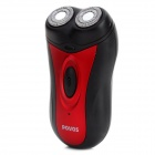 POVOS PQ2306 Rechargeable Dual-Blade Rotary Shaver Razor - Black + Red