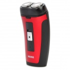 POVOS PQ3300 Rechargeable Dual-Blade Rotary Shaver Razor - Black + Red