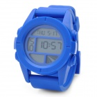 Sports Wrist Watch with Date / Week Display / Alarm Clock / Stopwatch - Blue (1 x CR2025)