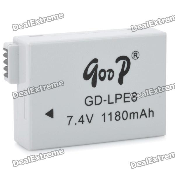 Replacement GD-LPE8 7.4V 1180mAh Battery for Canon EOS 550D / 600D original brand new lp e8 lpe8 battery for canon eos 550d 600d 650d 700d kiss x4 x5 x6i x7i rebel t2i t3i t4i t5i lc e8e camera