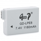 Replacement GD-LPE8 7.4V 1180mAh Battery for Canon EOS 550D / 600D