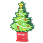 Patriot Christmas Tree Style USB 2.0 Flash Drive Disk - Green + Red (4GB)