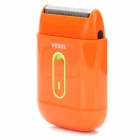 POVOS PS3108 Electric Shaver Razor - Orange (2 x AA)