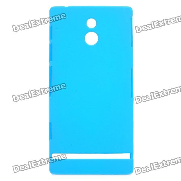 Protective Matte PC Back Case for Sony LT22i - Blue protective hollow out matte pc back case for samsung galaxy s4 zoom sm c1010 blue