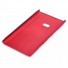 Frosted Protective PVC Back Case for Nokia Lumia 900 - Red