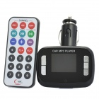 "M2 1.4"" LCD MP3 Player FM Transmitter w/ USB / TF / SD - Black (DC 12~24V)"