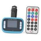 "1.5"" LCD Car MP3 Player FM Transmitter with SD/USB/TF - Black + Blue"