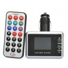 "1.4"" Car MP3 MP4 Player Wireless FM Transmitter with Remote Controller - Silver"