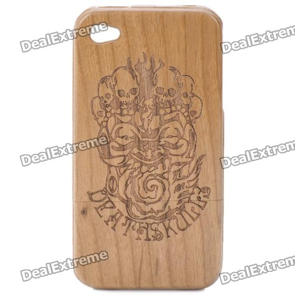 Protective Wooden Case Cover for Iphone 4 - Wood Color