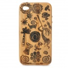 Stylish Protective Bamboo Case Cover for Iphone 4/4S - Brown