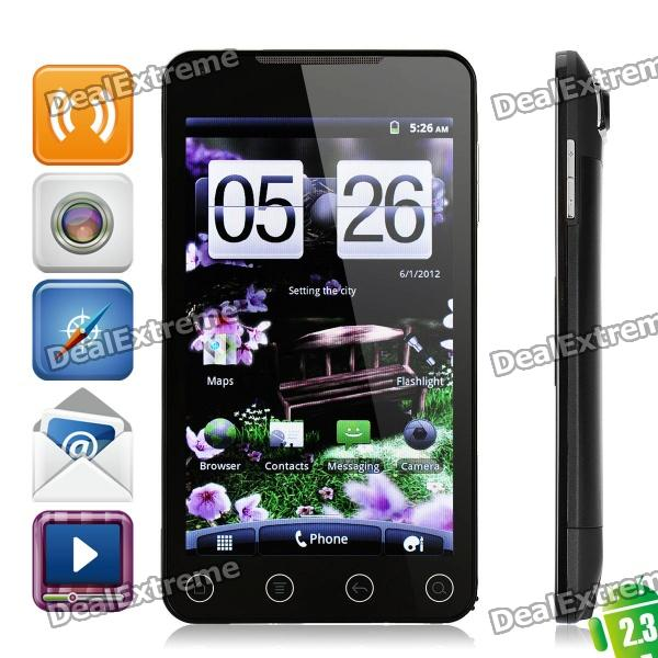 "Dapeng A7 Android 2.3 WCDMA slimme telefoon w / 5.0"" capacitief, gps, wi-fi en TV - zwart"