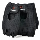 Outdoor Sports Palm Protection Support Gloves - Black (Pair)