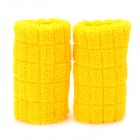 CAMEWIN 0804 Elastic Wrist Brace Wrap Support - Yellow (Pair)