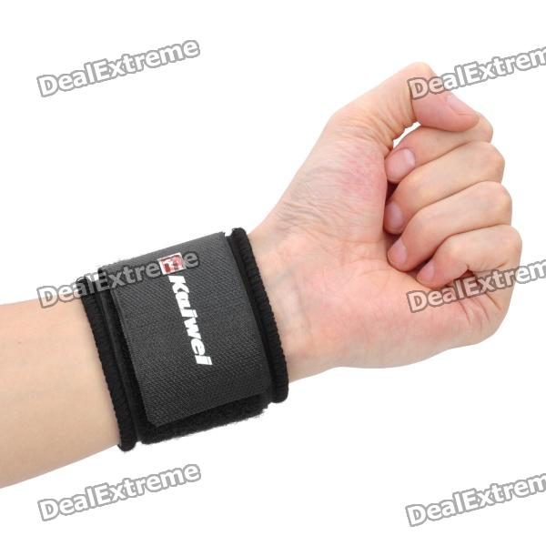 Adjustable Elastic Wrist Support Protector - Black + Blue andao one size fits all