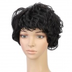 Fashion Short Curly Hair Wigs - Black