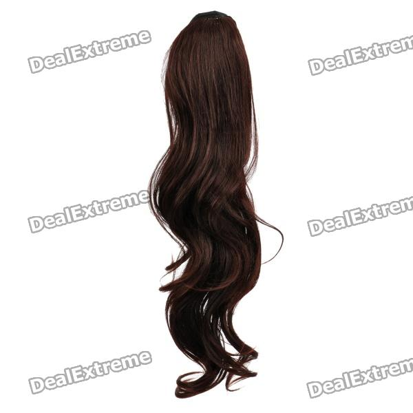 Fashion Long Curly Hair Wigs - Wind Red