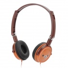 Rilakkuma Cute Bear Style Headset Headphone w/ 3.5mm Audio Jack - Brown