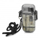 Water Resistant Windproof Butane Jet Flame Lighter - Transparent Grey