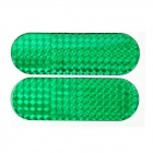 Buy Car Vehicle Safety Reflective Stickers - Green (Size-L / Pair)